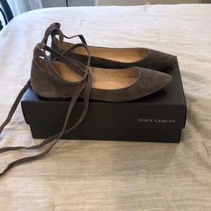Vince Camuto Lace Up Flats